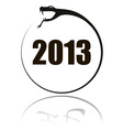 2013 snake round vector image vector image