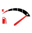 a full fuel tank vector image
