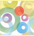 abstract geometric circle seamless pattern line vector image vector image