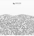 abstract random gray and black dots stripe wave vector image vector image