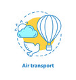 air transport concept icon vector image vector image