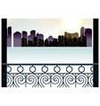 Balcony Cityscape View vector image vector image