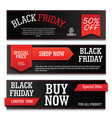 banner black friday with text vector image vector image