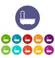 bathroom icons set flat vector image vector image