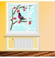 battery under the window vector image vector image