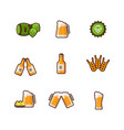 beer line icons isolated on white vector image vector image