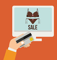 Buying products vector image vector image