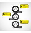 Car Wheel Infographic Design Template vector image