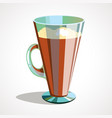 cartoon of coffee latte in vector image vector image