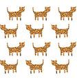 cheetah pattern vector image vector image