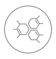 Chemical formula line icon vector image vector image