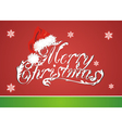Christmas card with Red Santa Claus Red Hat vector image vector image