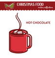 christmas food and drink hot chocolate vector image