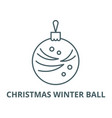 christmas winter ball line icon linear vector image vector image