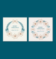 christmas wreaths with poinsettia flowers merry vector image vector image