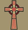 classic celtic cross vector image