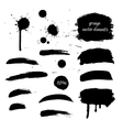 Collection black grunge watercolor element vector image vector image
