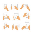 collection of hand gesture vector image vector image