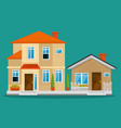 colorful cottage flat residential houses vector image