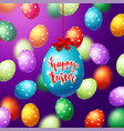 colorful eggs with calligraphy happy easter vector image vector image
