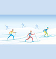 cross country skiing vector image vector image