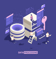 data processing isometric poster vector image