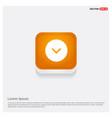 down arrow icon orange abstract web button vector image vector image
