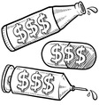 Drugs and alcohol costly vector image