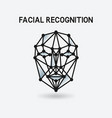 facial recognition system 3d face vector image vector image