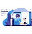 feedback rating concept online customers product vector image