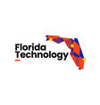 florida technology connection map geometric vector image