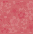geometric floral motif in coral shades vector image vector image