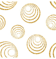Gold concentric circle seamless pattern white 1 vector image vector image