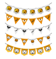 Halloween bunting flags