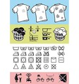 Handling and care of clothing vector image vector image