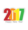 happy new year 2017 background year of rooster vector image vector image