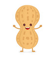happy smiling cute peanut flat vector image