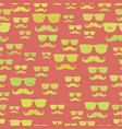 hipster mustache and glasses seamless pattern vector image