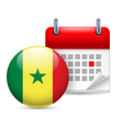 Icon of National Day in Senegal vector image vector image