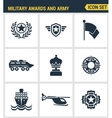 Icons set premium quality of military awards and vector image