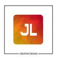 initial letter jl logo template design vector image