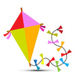 Kite Isolated on White vector image vector image