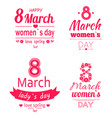 ladys day love spring 8 march calligraphy prints vector image
