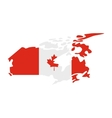 map canada with image national flag vector image vector image