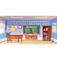 mathematics classroom empty interior school class vector image vector image