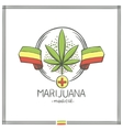 Medical Marijuana Logo Nine vector image vector image