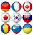 national flag ball set 3