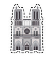 notre dame cathedral vector image vector image