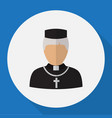 of occupation symbol on priest vector image vector image