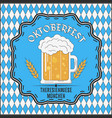 oktoberfest beer festival card advertising poster vector image vector image